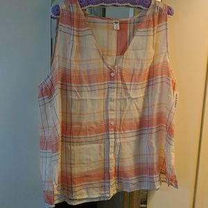 Old Navy sleeveless blouse tank XXL